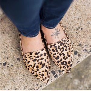 Leopard animal prints loafer flats shoes